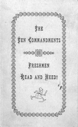 Ten Commandments for Freshman