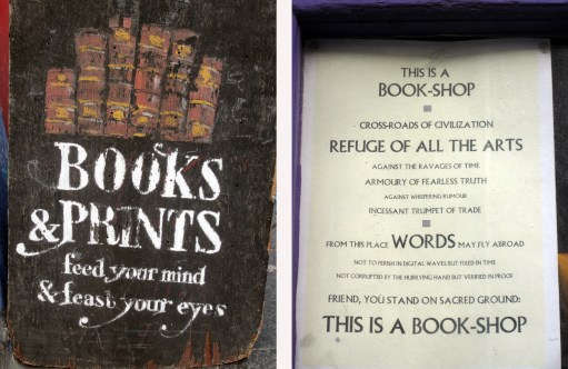 Signs about books