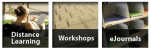 Links to the Distance Learners guide, UCL Workshops, and UC eJournals