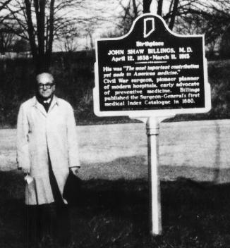 Dr. Cecil Striker at Billings Historical Marker Oct. 16 1968 Allensville Indiana Rd. 250 001