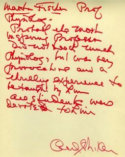 Fischer, Martin-Cecil Striker Note with Caricature