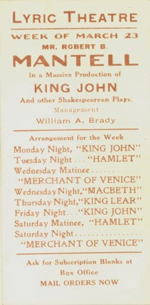 Ad for Shakespeare series