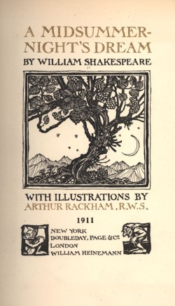 Title Page of A Midsummer Night's Dream