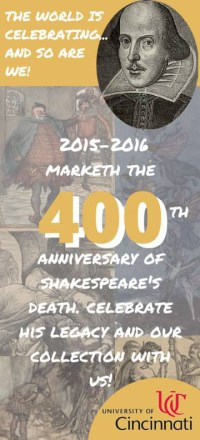 Shakespeare Celebration Bookmark