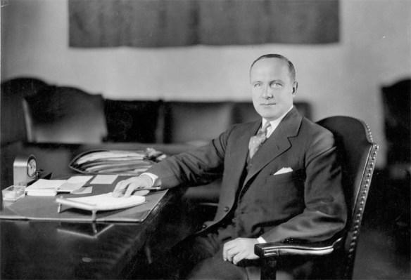 Raymond Walters at desk