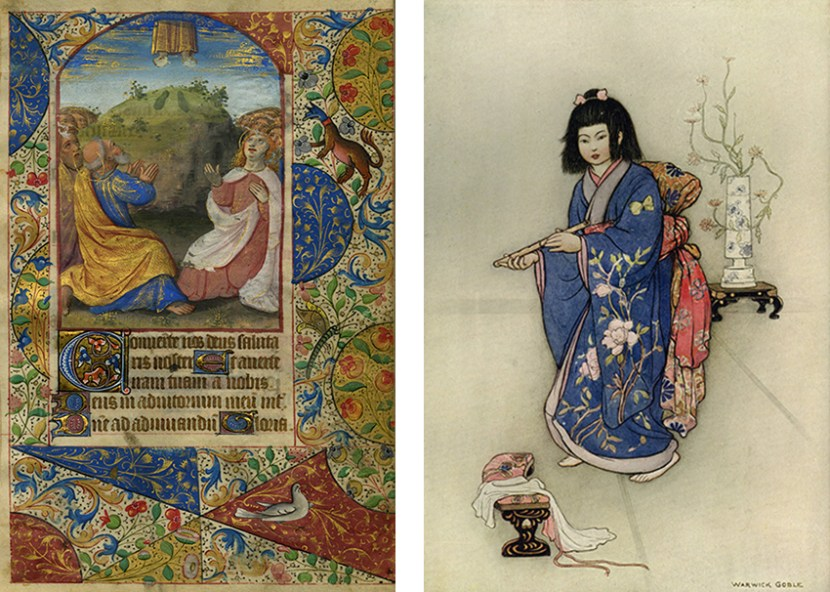Images from Green Willow and other Japanese Fairy Tales and Book of Hours