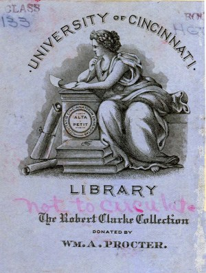 Robert Clark Collection book plate