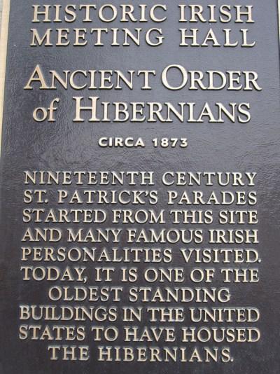 Hibernians Plaque