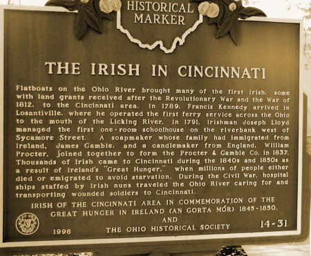 Irish in Cincinnati Historical Marker