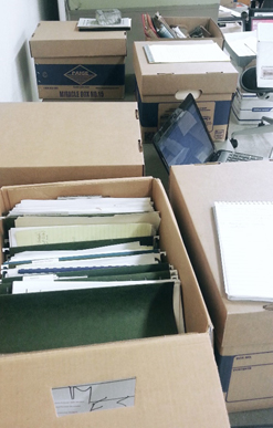 Gettler papers boxes