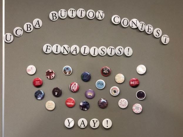 Button Contest Finalists on display