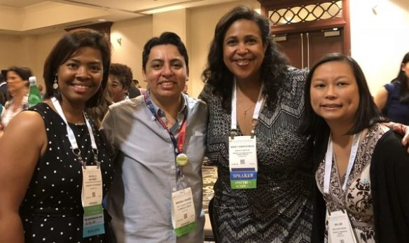 Michelle McKinney and three library colleagues