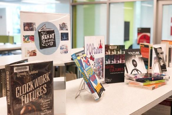 geeky book display