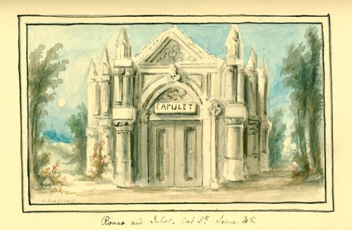 Capulet tomb from Extra Illustrated Edition