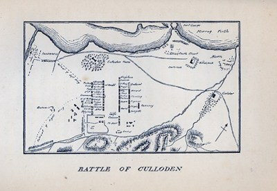 Drawing showing location of Battle of Colloden