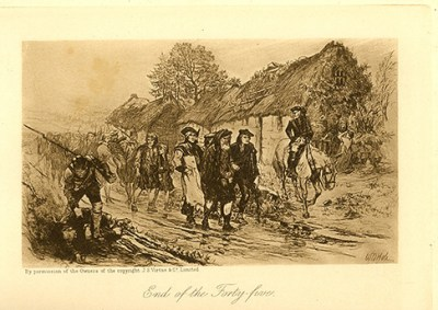 Drawing showing the Battle of Culloden