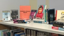 Women's History Month browsing display