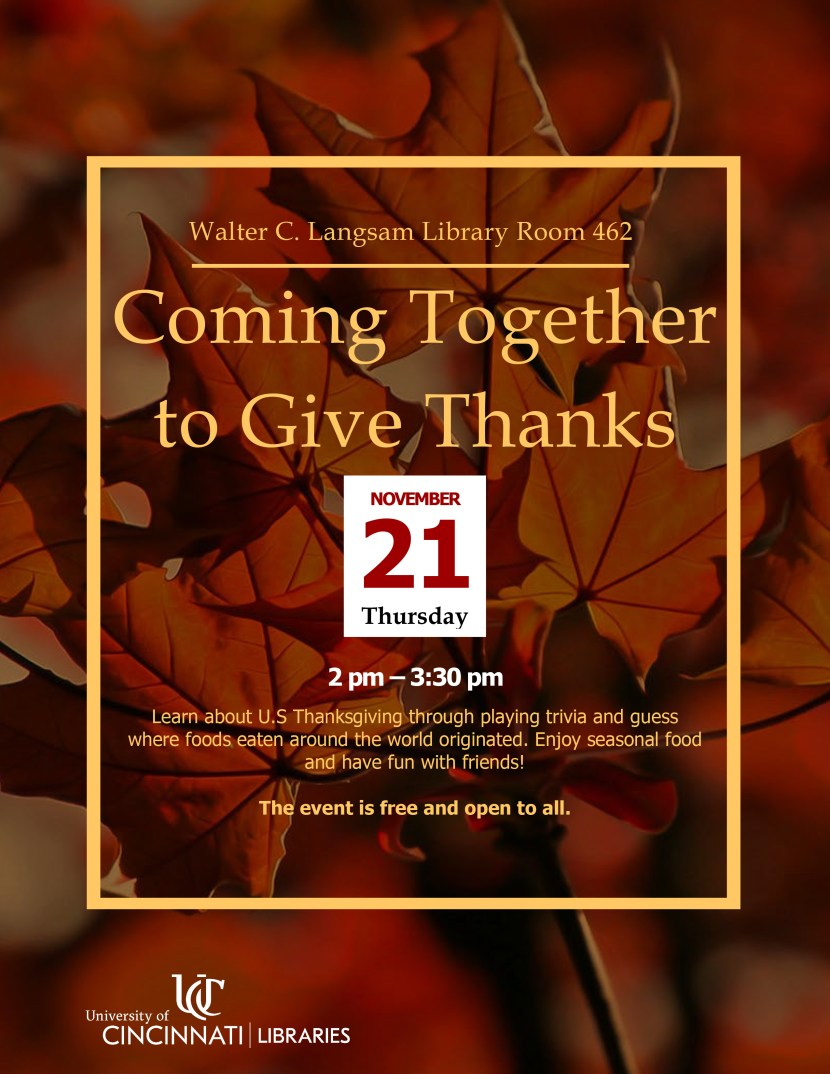 coming together to give thanks flyer