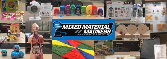Image collage of educational mixed materials