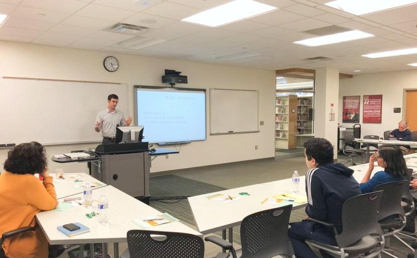 David Freeman giving a presentation.