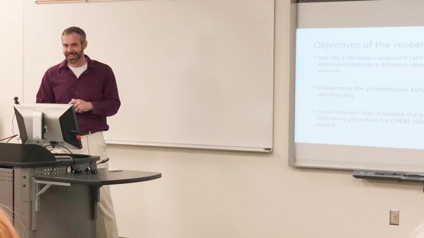 Chris Gulgas giving a presentation