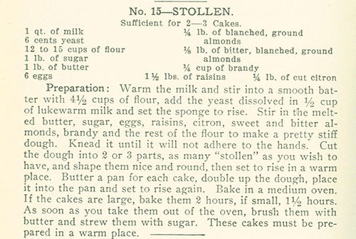 Davidis Stollen Recipe from the American edition