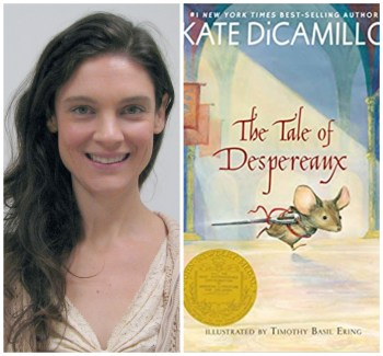 Elizabeth Hartlaub and cover of The Tale of Despereaux