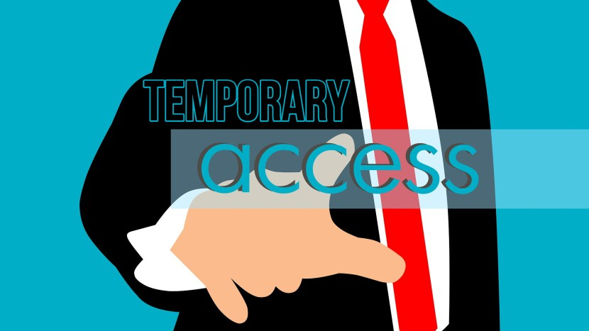 temporary access graphic