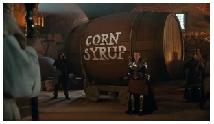MillerCoors v Anheuser Busch Lawsuit photograph of Corn Syrup barrel from commercial in complaint