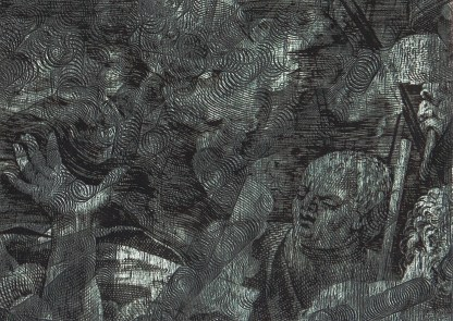 Rob Swainston, Woodcut Map of Utopia (Detail)201348 x 36 incheswoodcut and pigment print