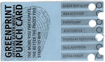 Greenprint punchcard