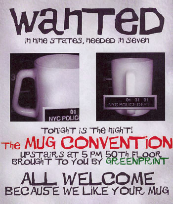 Mug Convention: Trying to get people to bring in their own non-disposable cups