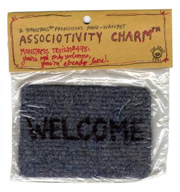 The Associativity Charm™ is one of my portrait products, made for a friend who was feeling way too far from anything called home. It is intended to be used as a sensorial aid: when feeling lonely or out of place, you brush your fingertips on the rug's surface and remember you are not only welcome, you are already here.
