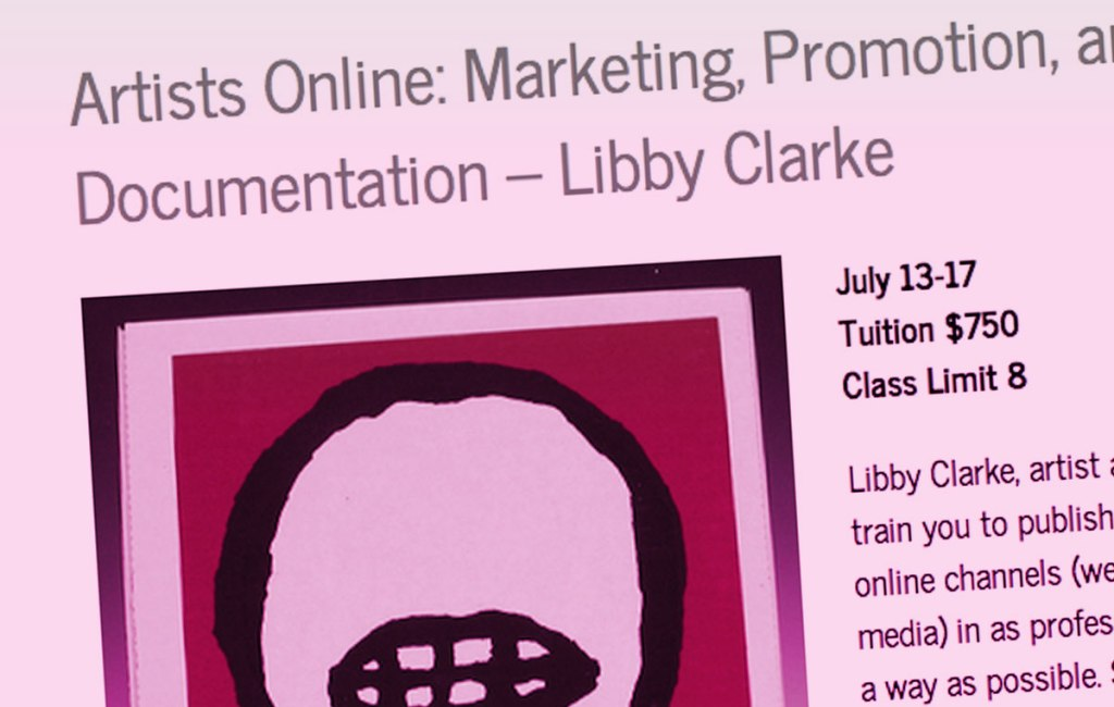 Artists Online: Marketing, Promotion, and Documentation