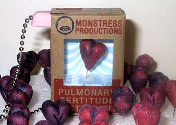 The rarest of valentines, this device was a small box with a heart inside that would spin to reveal a Y for yes or N for no when you asked a question and held up the attached wand.