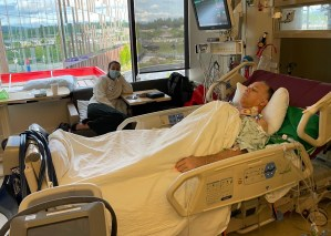 Man in ICU with daughter