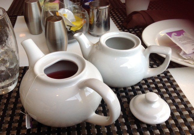 Tea pots at the Hyatt Regency Suites Atlanta