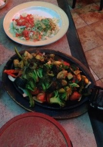 Vegetable fajitas at Willi & Jose's Cantina at Sam's Town in Las Vegas