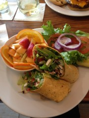 Vegan wrap at Springhill Suites