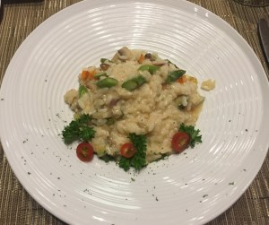Vegetarian risotto for lunch - $18