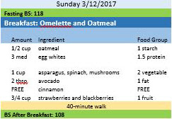 omelette and oatmeal journal