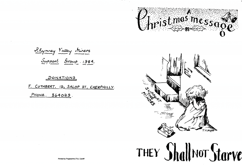 South Wales Miners Strike Xmas Cards