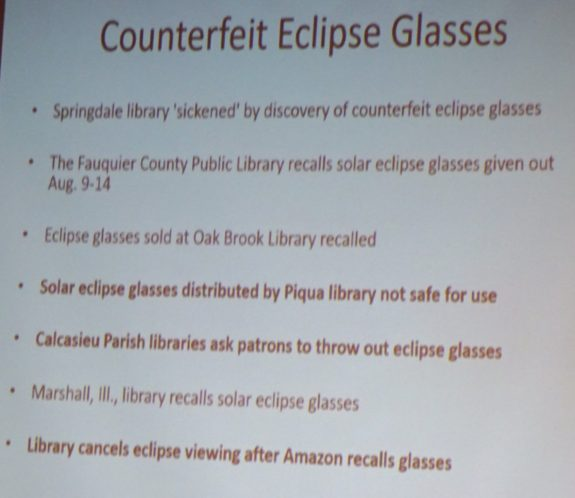 Counterfeit Eclipse Glasses