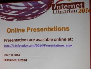 Speaker presentations website