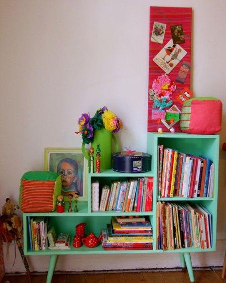 green-bookshelf