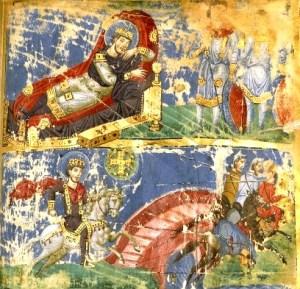 Foto 1 - Omiliile Sfântului Grigorie de Nazianz; secol al IX-lea între 879-883 (Biblioteca Naţională a Franţei)