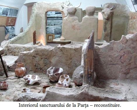 10.1.6.1 Interiorul sanctuarului de la Parţa – reconstituire.