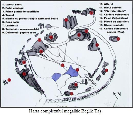 11.4.x.1 Harta complexului megalitic Beglik Taş