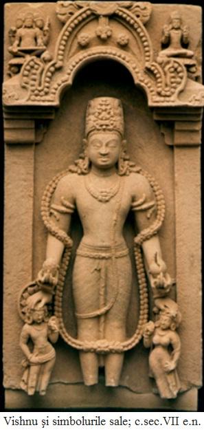 12.2.2.1 Vishnu şi simbolurile sale; c.sec.VII e.n.