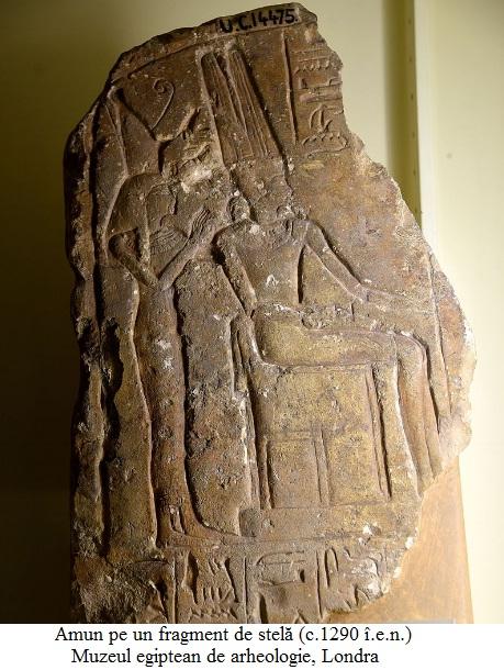 2.1.4 Amun pe un fragment de stelă (c.1290 î.e.n.); Muzeul egiptean de arheologie, Londra